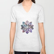 Floral Abstract 5 Unisex V-Neck