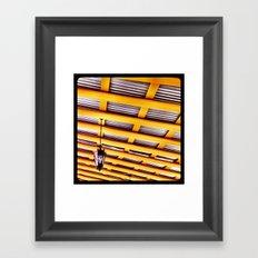 Yellow. Framed Art Print