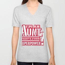 I'm An Aunt Mother Day Mom Present Unisex V-Neck