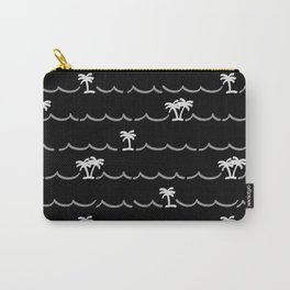 Tropica Night - black and white tropical pattern Carry-All Pouch