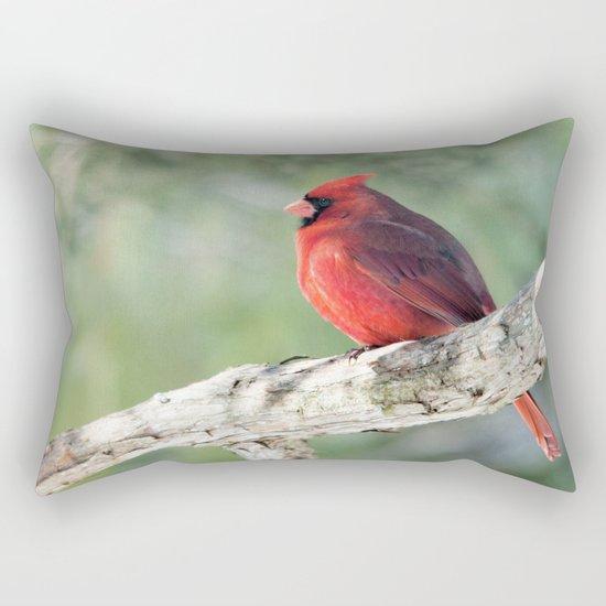 Serene Cardinal Rectangular Pillow
