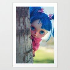 Little naughty girl Blythe Art Print