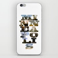 minneapolis iPhone & iPod Skins featuring Minneapolis Collage by Jeremy Jon Myers
