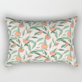 Peach and leaves Rectangular Pillow