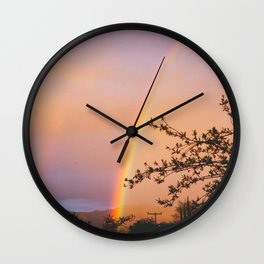Ojai Rainbow Wall Clock