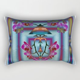 ORCHIDS AND LACE Rectangular Pillow