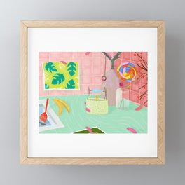 Caterpillar Kitchen Framed Mini Art Print
