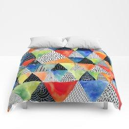 Doodled Geometry Comforters