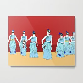 Naughty Nurses Metal Print