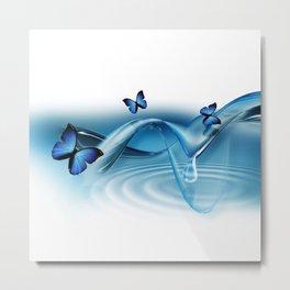 Blue Butterflies Metal Print