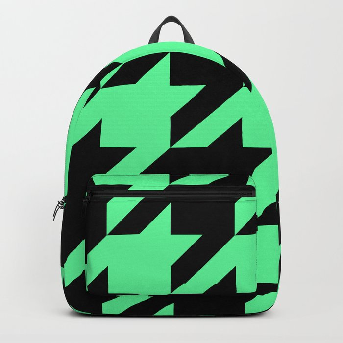 Mint Green Houndstooth Backpack