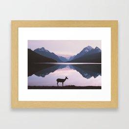 Montana Deer Framed Art Print