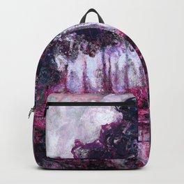 Monet Poplars on the Banks of the River Epte Purple Magenta Backpack