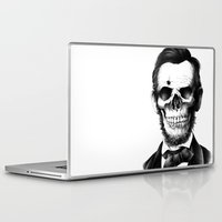 lincoln Laptop & iPad Skins featuring Lincoln Skull by BIOWORKZ