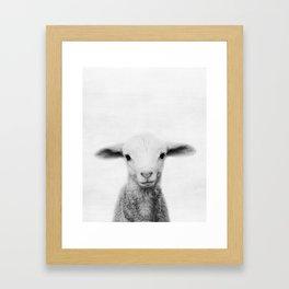 Lamb, Animal, Nursery, Minimal, Modern, Wall art, Art Print Framed Art Print
