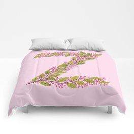 Leafy Letter Z Comforters