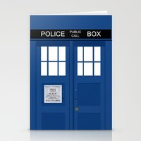 tardis Stationery Cards featuring Tardis by Freak Clothing