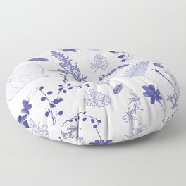 Blue Botanicals Floor Pillow