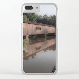Watson Mill Historic Bridge Clear iPhone Case