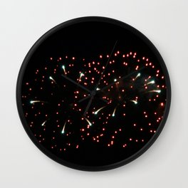 Fireworks 20 Wall Clock