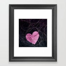 Heart grunge Framed Art Print