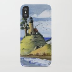 Peaceful Lighthouse IV iPhone X Slim Case