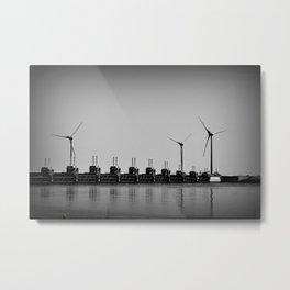 Turbines by the sea Metal Print