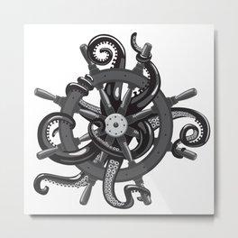 Captain octopus Metal Print
