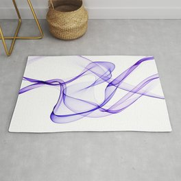 Purple Ribbon Flow Rug