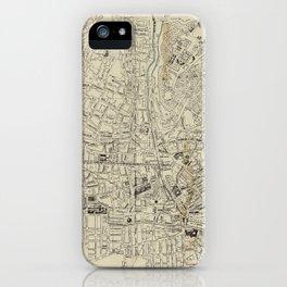 Vintage Granada Spain Map (1943) iPhone Case