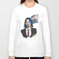 kurt cobain Long Sleeve T-shirts featuring Kurt Gore Cobain by Alexalco5