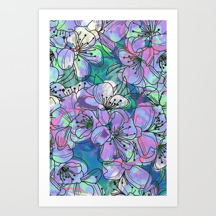 Little Purple Flowers Art Print By Klaraacel Society6