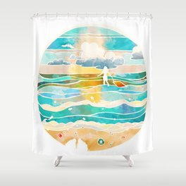 Bittersweet waves Shower Curtain