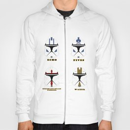 collection helmets clone wars troopers Hoody