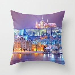 Colorful Prague Landscape Throw Pillow