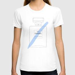 blue paint stroke perfume T-shirt