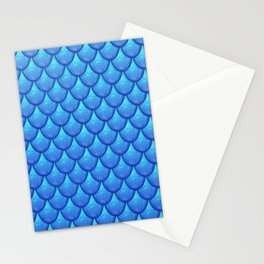 Fish Scales - Blue Version Stationery Cards