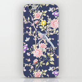 Chinoiserie Flowers and Birds Pattern iPhone Skin