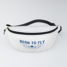 Born To Fly Airplane Flying Pilot Fanny Pack
