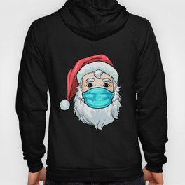 Christmas 2020 Santa Wearing Mask Funny Xmas Costume T-Shirt Hoody