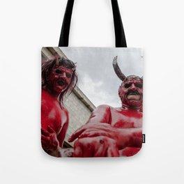 Double devil Tote Bag