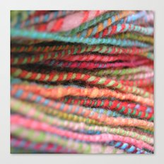 Handspun Yarn Color Pattern by robayre Canvas Print
