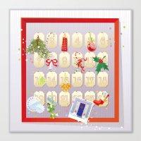 calendar Canvas Prints featuring  Advent Calendar by rusanovska