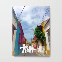 C for Cartagena Fun Cut Out Cartagena Street Print Metal Print