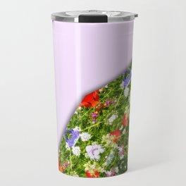 Wildflowers, Flower Mandala, Floral mandala-style Travel Mug