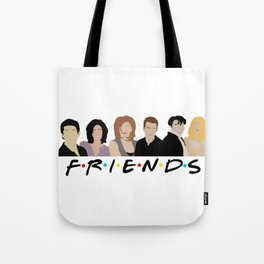 FRIENDS (Minimalist Print with Text) Tote Bag
