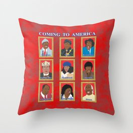 Coming to America Throw Pillow