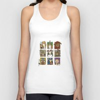labyrinth Tank Tops featuring Labyrinth by Steven Learmonth