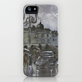 Lviv in the evening iPhone Case