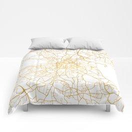 DUBLIN IRELAND CITY STREET MAP ART Comforters